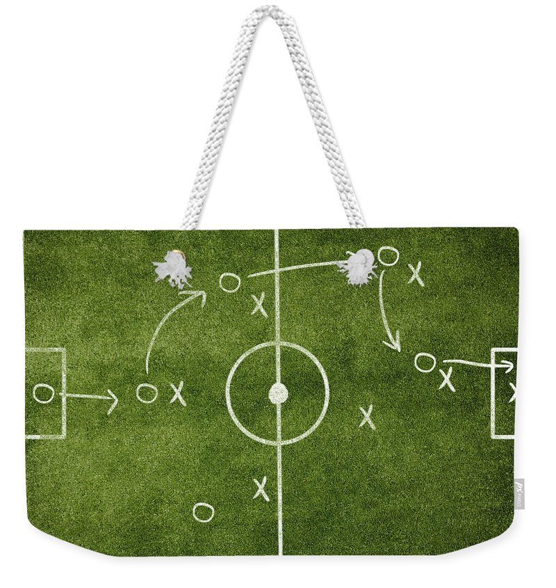 Rectangle Weekender Tote Bag featuring the photograph Soccer Strategy by Goldmund