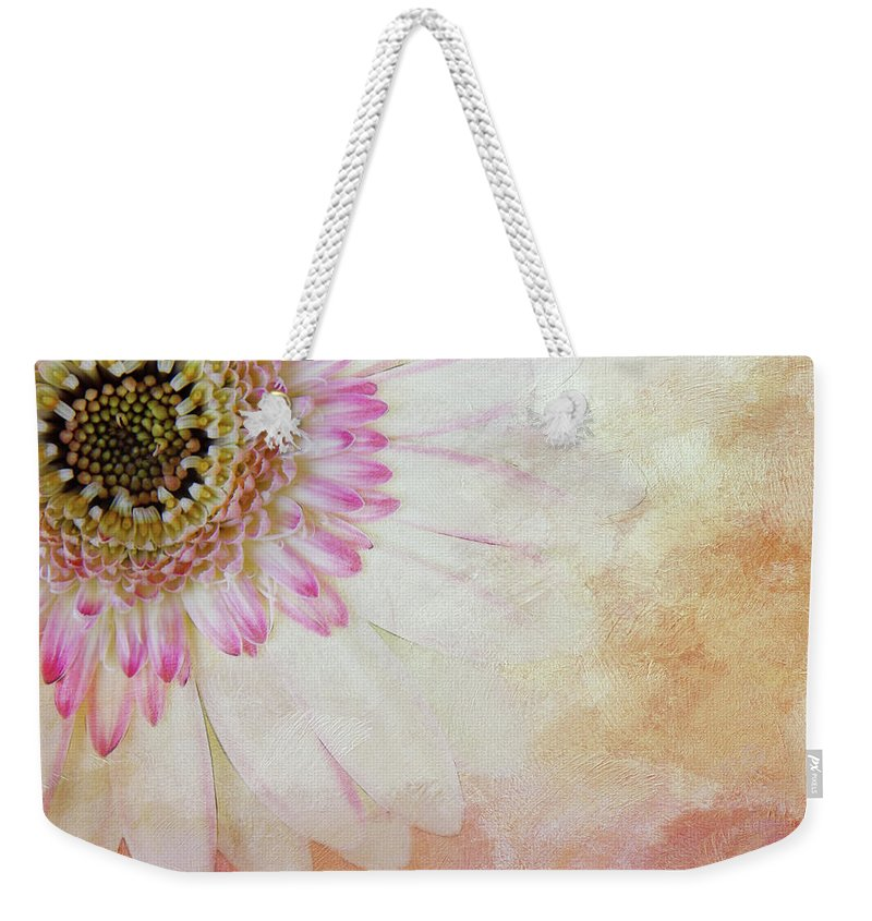 Photography Weekender Tote Bag featuring the digital art Softly Gerbera by Terry Davis
