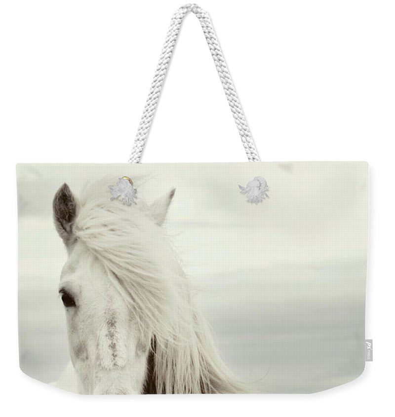 Horse Weekender Tote Bag featuring the photograph ísold by Gigja Einarsdottir