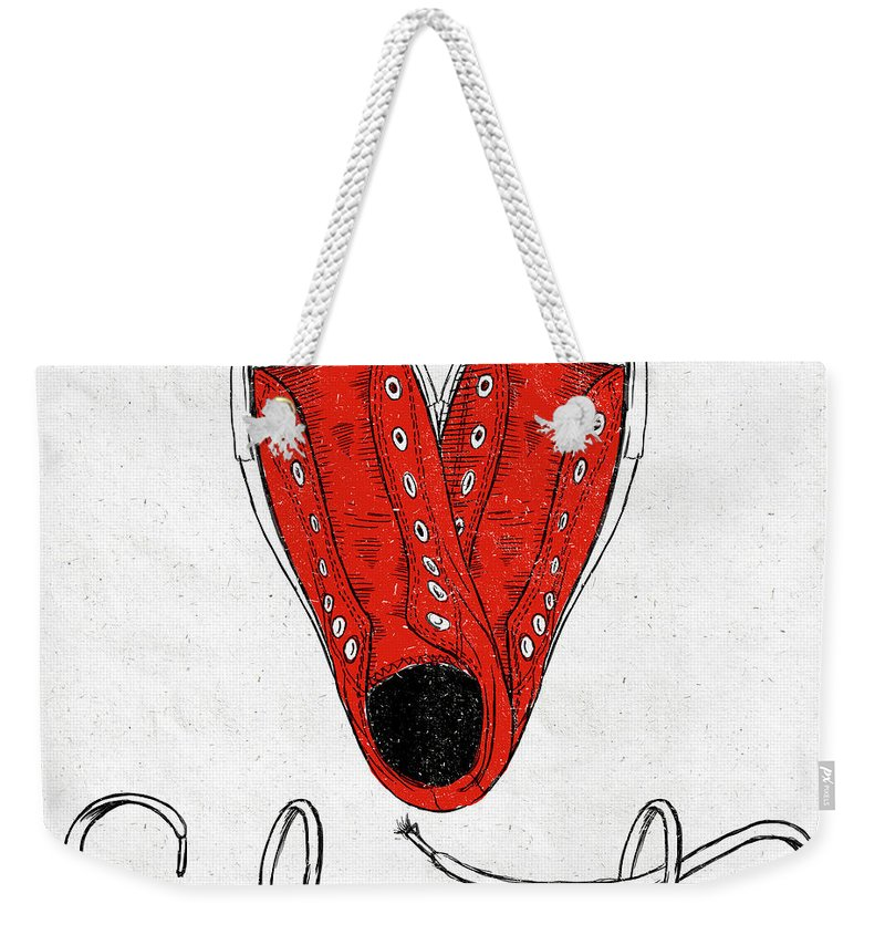 Sole Weekender Tote Bag featuring the painting Sole Mate by Sd Graphics Studio