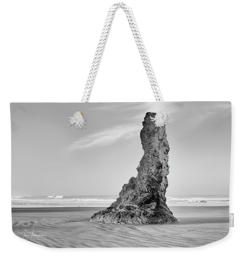 Bandon Beach Weekender Tote Bag featuring the photograph Solo by Jim Thompson