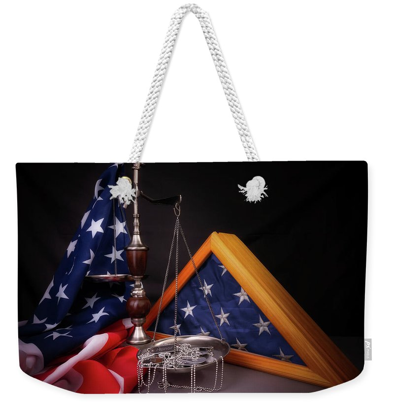 Air Force Weekender Tote Bag featuring the photograph Some Gave All by Tom Mc Nemar