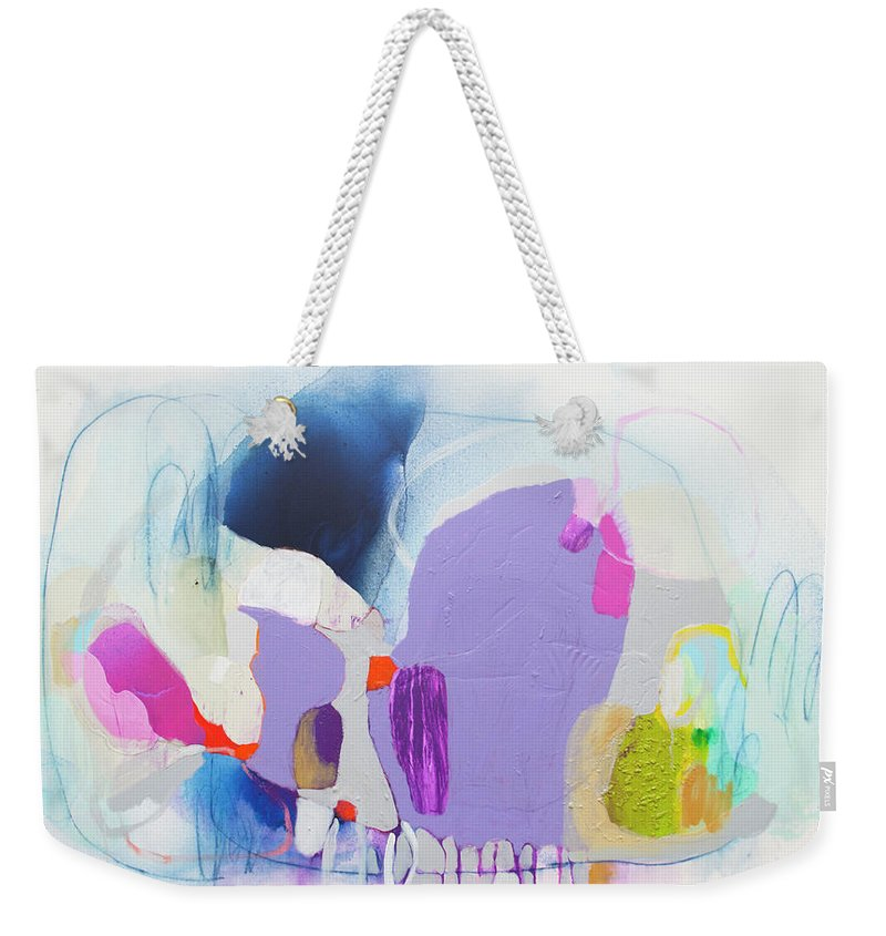 Abstract Weekender Tote Bag featuring the painting Sometime In June by Claire Desjardins