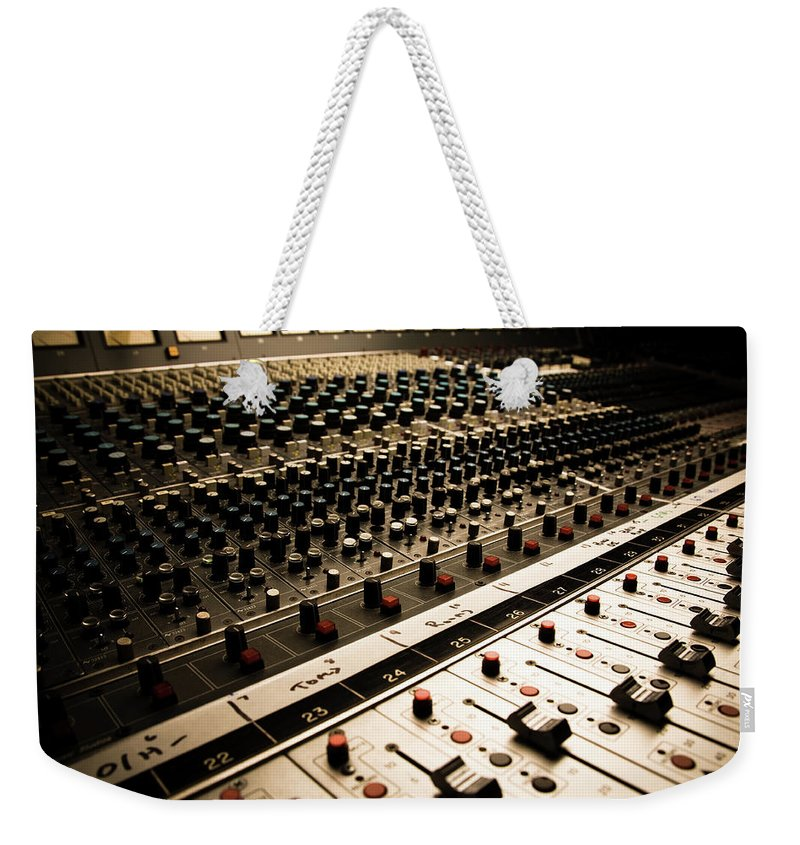 Shadow Weekender Tote Bag featuring the photograph Sound Board In Color by Halbergman