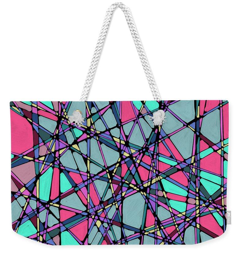 Nonobjective Weekender Tote Bag featuring the digital art Spaces We Inhabit #010 by James Fryer