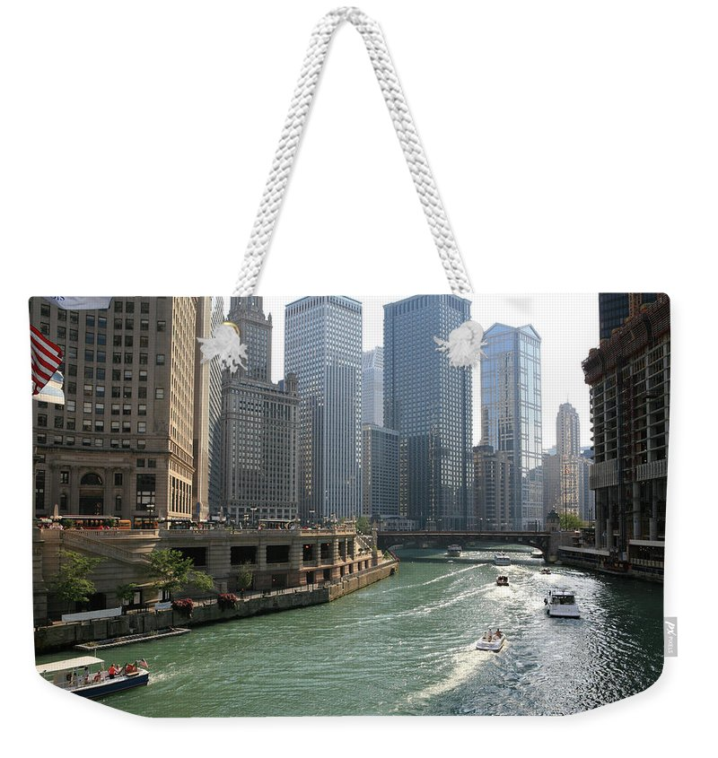 Downtown District Weekender Tote Bag featuring the photograph Spectacular Chicago Downtown by Ekash