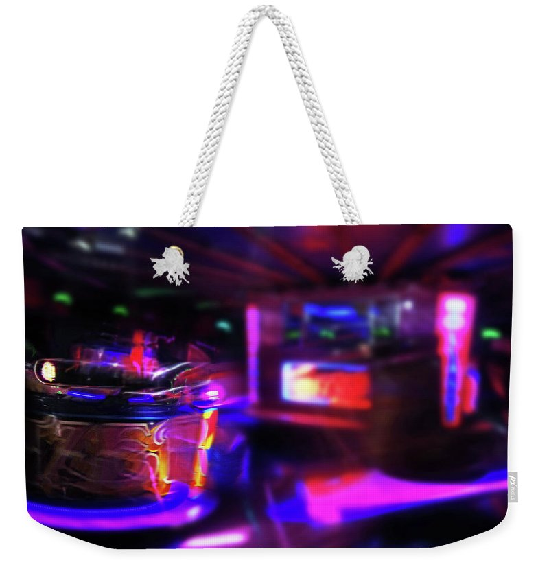 Speeding Waltzers Weekender Tote Bag featuring the painting Speed by Charles Stuart