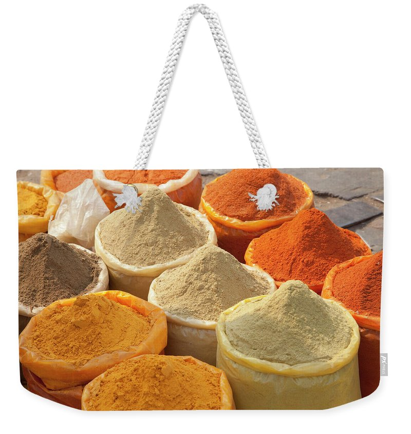 New Delhi Weekender Tote Bag featuring the photograph Spice Display by Grant Faint