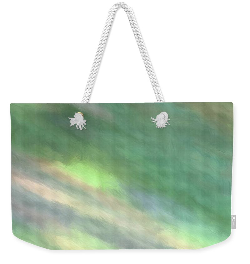 Abstract Weekender Tote Bag featuring the digital art Spinning by Michael Campbell