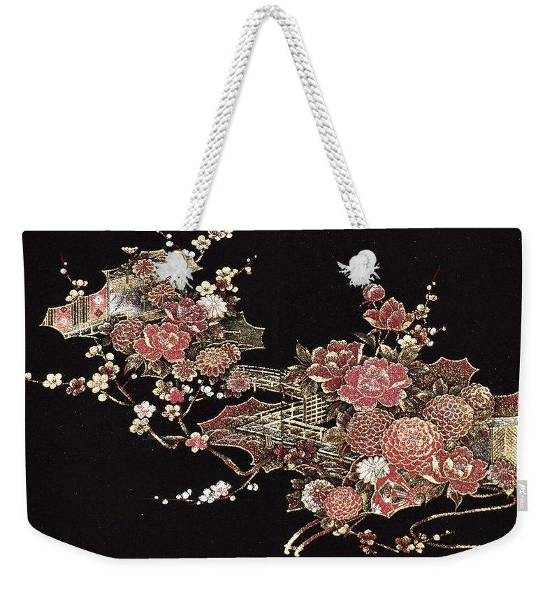 Weekender Tote Bag featuring the digital art Spirit of Japan H26 by Miho Kanamori