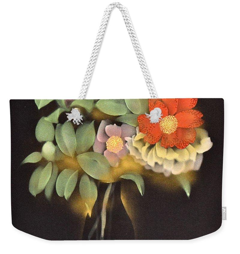Weekender Tote Bag featuring the digital art Spirit of Japan O1 by Miho Kanamori