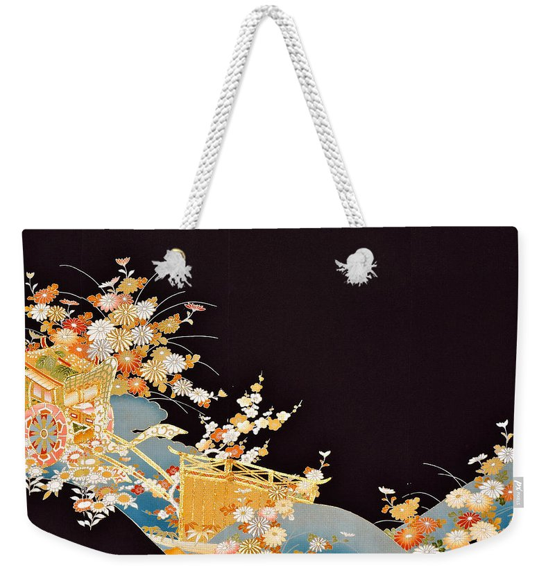 Weekender Tote Bag featuring the digital art Spirit of Japan T14 by Miho Kanamori