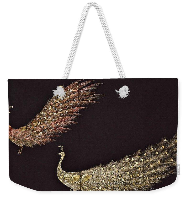 Weekender Tote Bag featuring the digital art Spirit of Japan T24 by Miho Kanamori