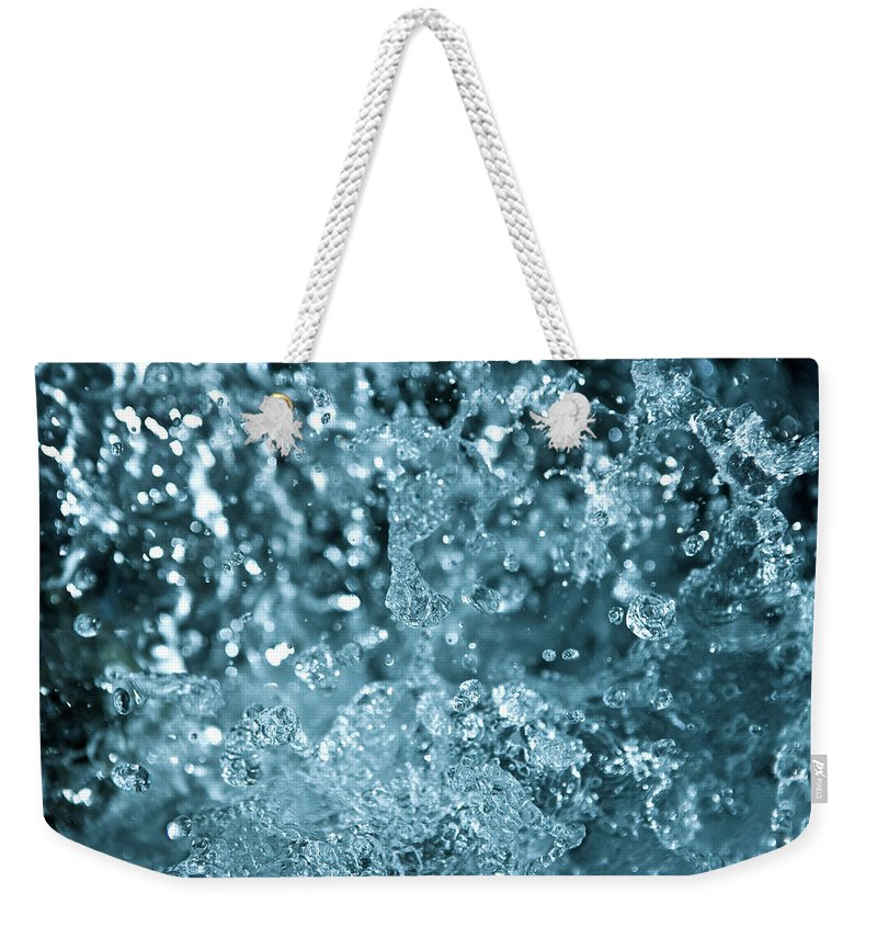 Spray Weekender Tote Bag featuring the photograph Splash From Waterfall by Sindre Ellingsen
