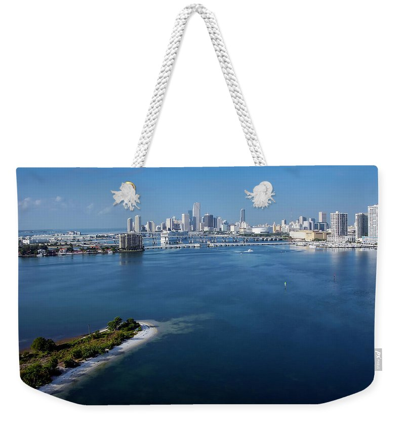 Clear Sky Weekender Tote Bag featuring the photograph Spoil Island Intracoastal Waterway by Scott B Smith Photography