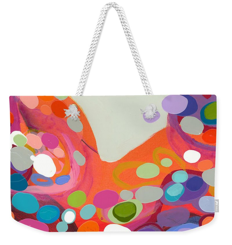 Abstract Weekender Tote Bag featuring the painting Spoonful Of Joy by Claire Desjardins