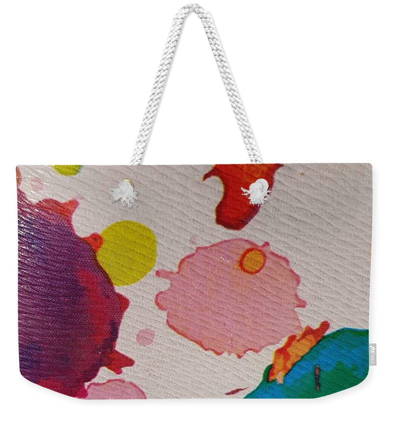Acrylic Weekender Tote Bag featuring the photograph Spotted Surface by Paola Baroni