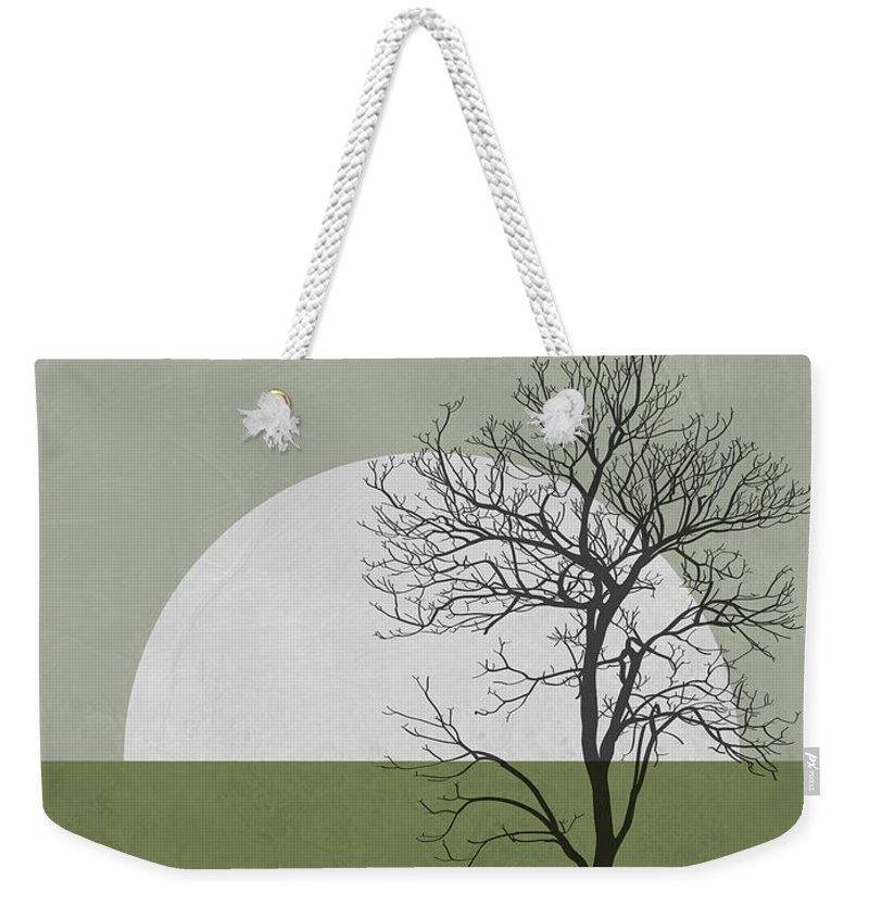 Tree Weekender Tote Bag featuring the mixed media Spring Sunset Tree by Naxart Studio