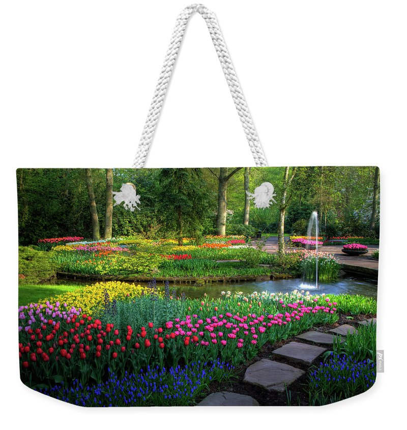 Netherlands Weekender Tote Bag featuring the photograph Springtime Keukenhof Gardens With by Darrell Gulin