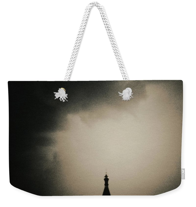 Red Square Weekender Tote Bag featuring the photograph St. Basils Cathedral by Mel Curtis