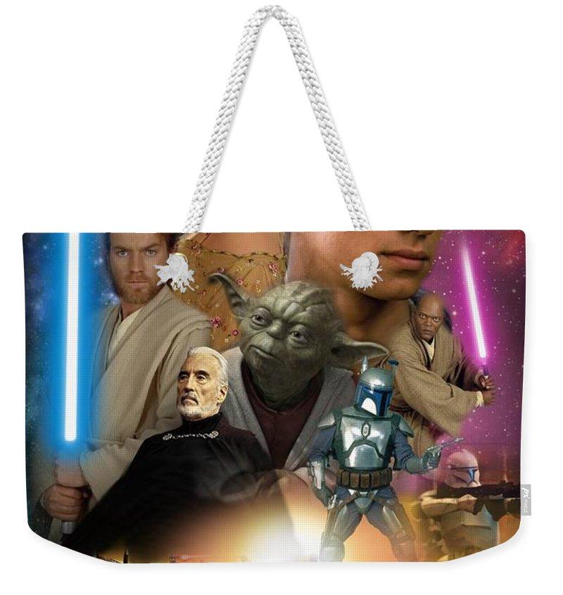 Star Wars Episode Ii Weekender Tote Bag featuring the digital art Star Wars Episode II by Geek N Rock