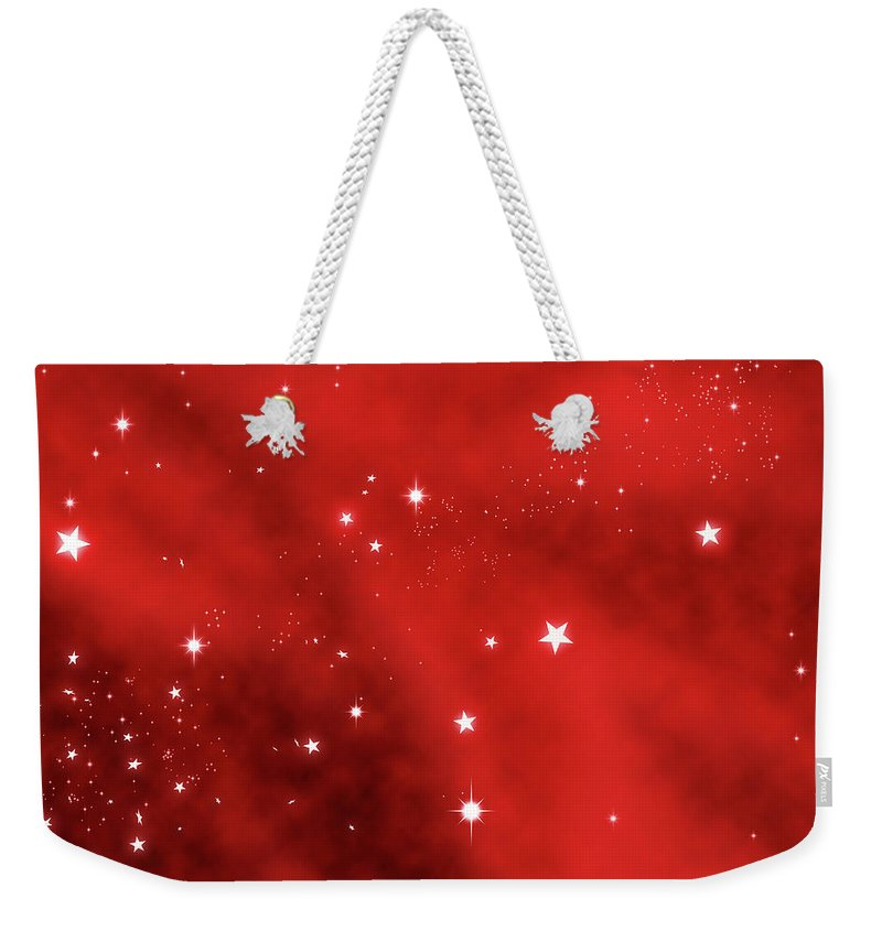 Holiday Weekender Tote Bag featuring the photograph Stars Background by Enter89