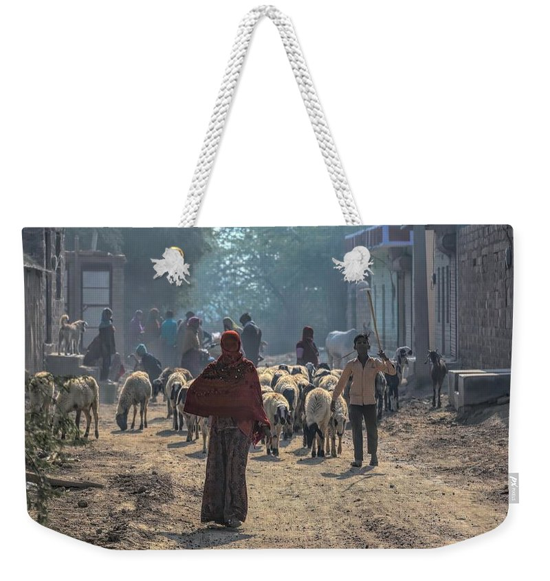 Rajasthan Weekender Tote Bag featuring the photograph Start Of The Day by James Kenning