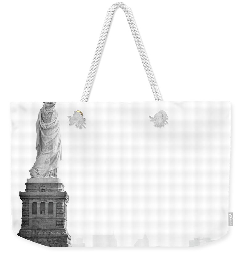Statue Weekender Tote Bag featuring the photograph Statue Of Liberty by Image - Natasha Maiolo