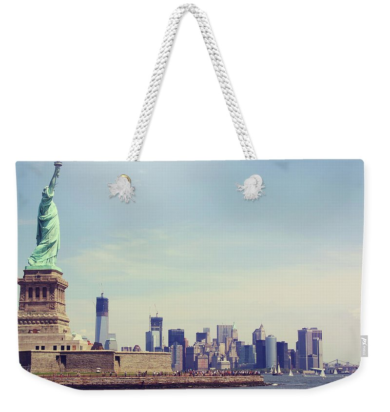 Tranquility Weekender Tote Bag featuring the photograph Statue Of Liberty by Sere C. Photography