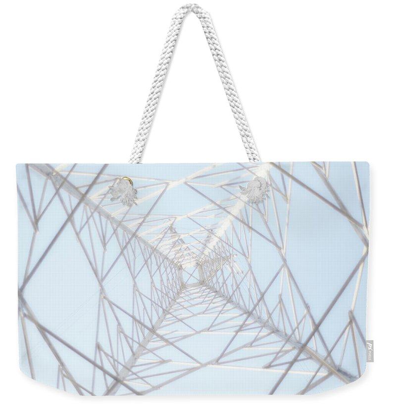 Radial Symmetry Weekender Tote Bag featuring the photograph Steel Tower by Kaneko Ryo