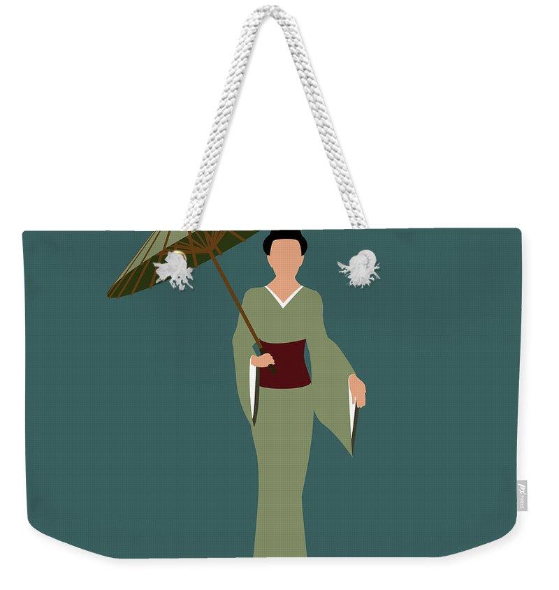 People Weekender Tote Bag featuring the digital art Stereotypical Japanese Woman by Ralf Hiemisch