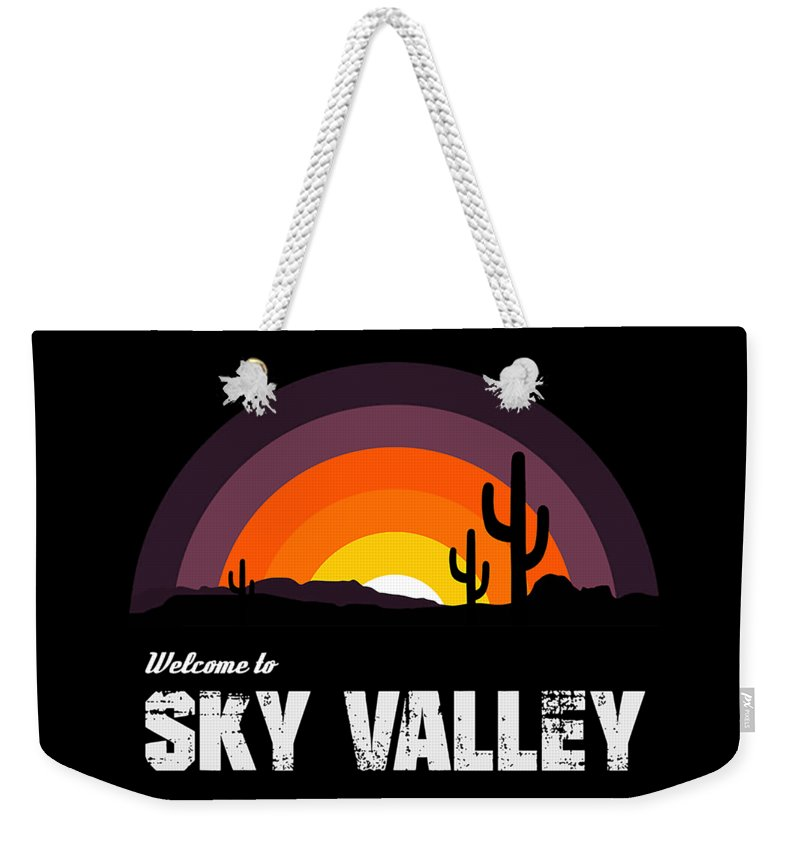 Kyuss Weekender Tote Bag featuring the digital art Stoner T-shirt Welcome To Sky Valley T-shirt California Hard Rock Band Inspired by Illidan Raven