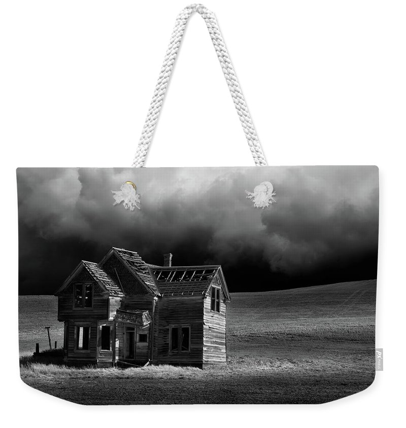 Grass Weekender Tote Bag featuring the photograph Stormy Weather by Davealan