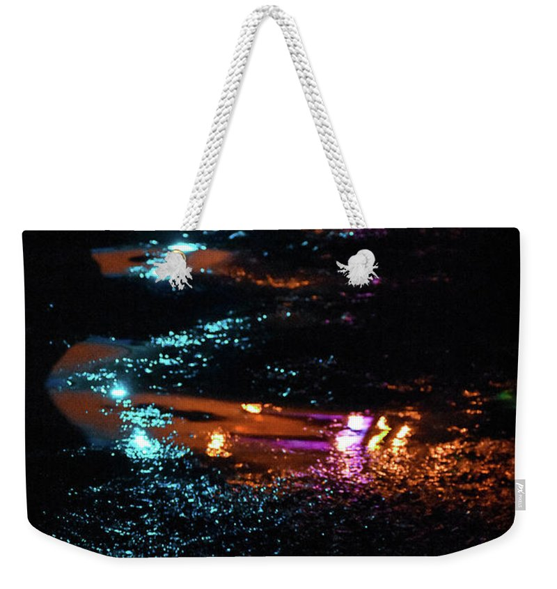 Lights Weekender Tote Bag featuring the photograph Street Magic by Ashleena Valene Taylor