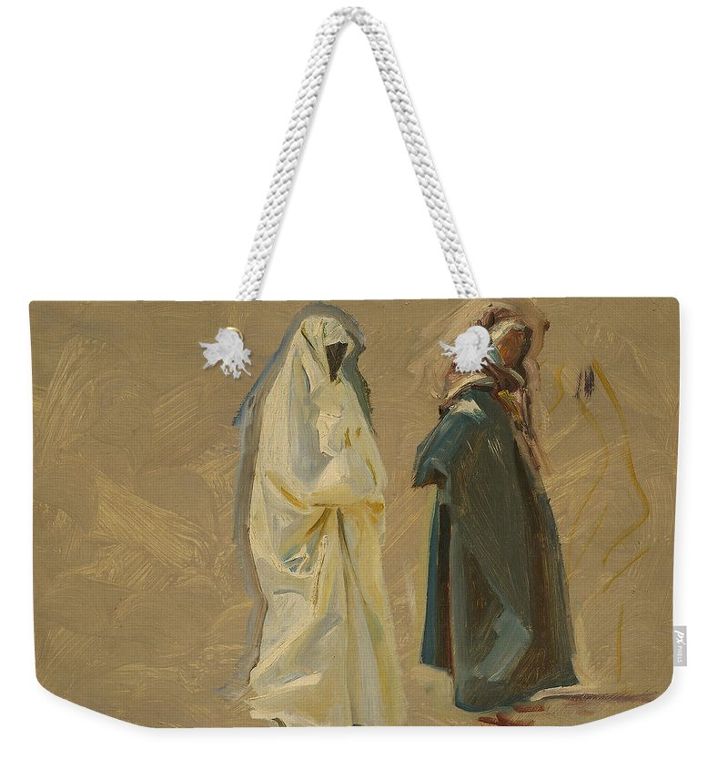 19th Century Art Weekender Tote Bag featuring the painting Study Of Two Bedouins by John Singer Sargent