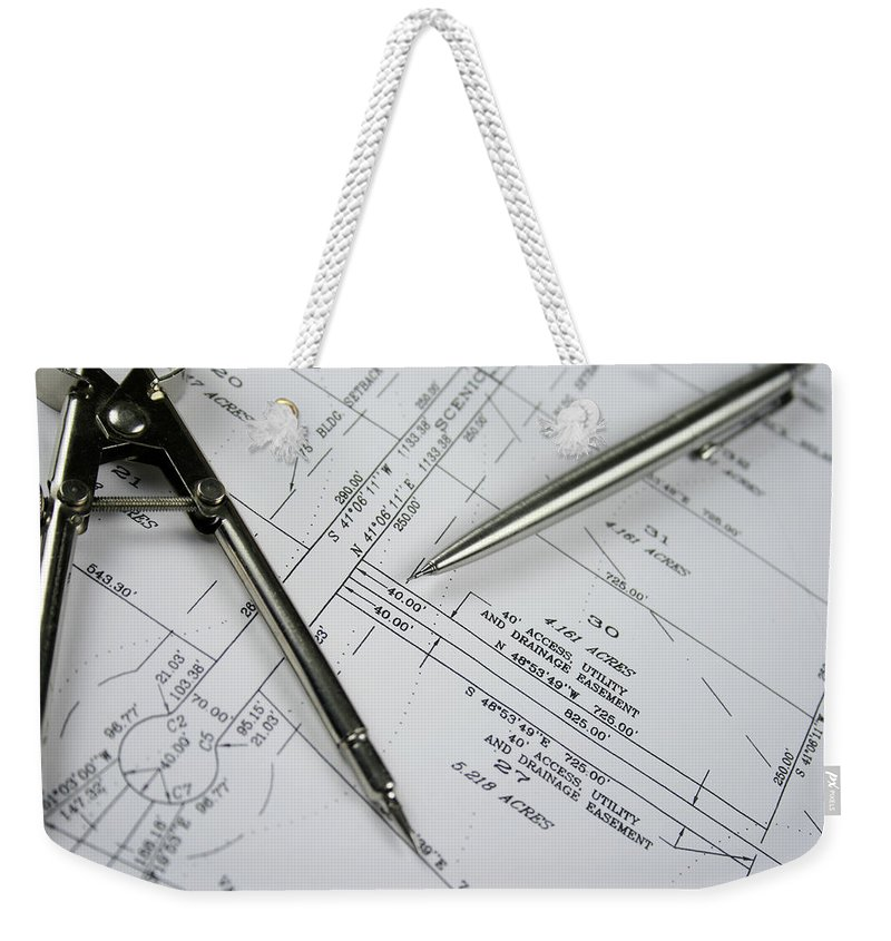 Plan Weekender Tote Bag featuring the photograph Subdivision Development Planning by Lvsigns