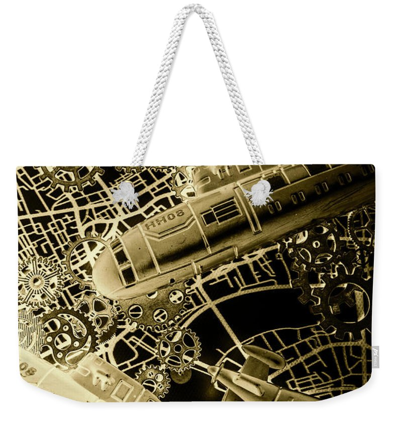 Design Weekender Tote Bag featuring the photograph Submerged Battlefront by Jorgo Photography - Wall Art Gallery