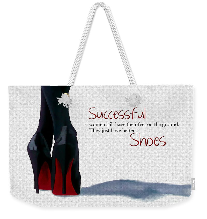 Christian Louboutin Weekender Tote Bag featuring the mixed media Successful Woman by My Inspiration