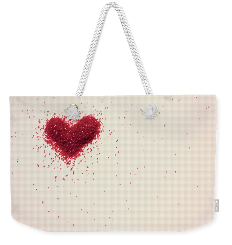 Art Weekender Tote Bag featuring the photograph Sugar Heart by Amy Weekley