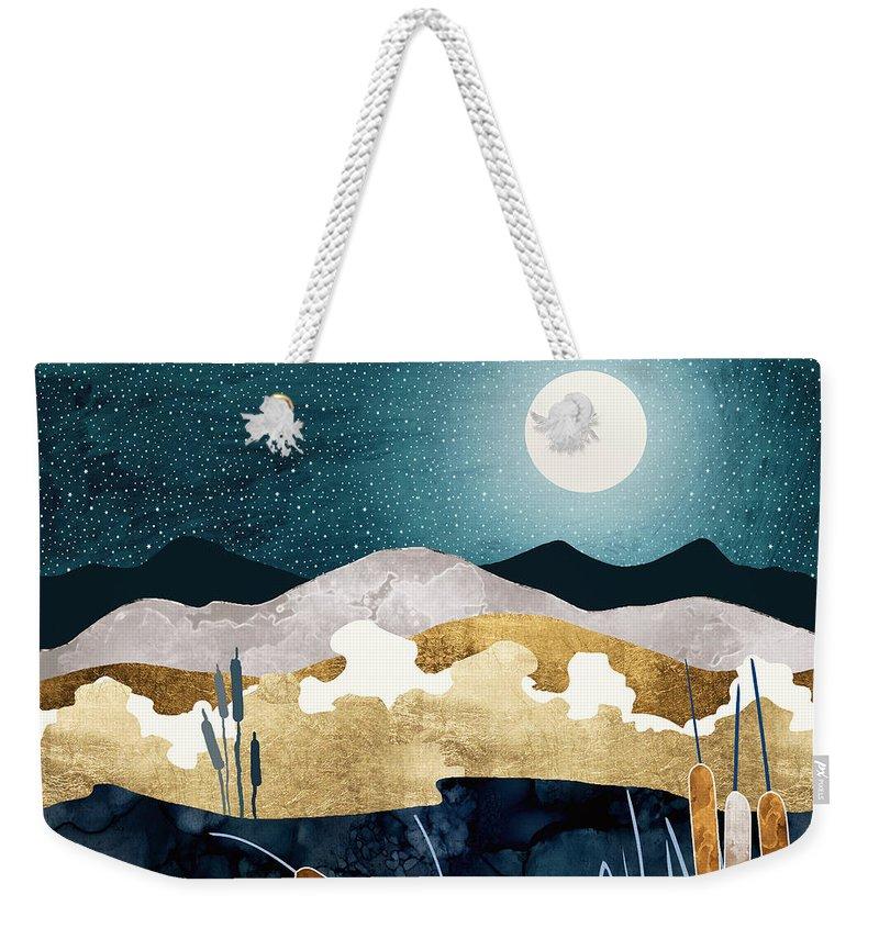 Summer Weekender Tote Bag featuring the digital art Summer Lake by Spacefrog Designs