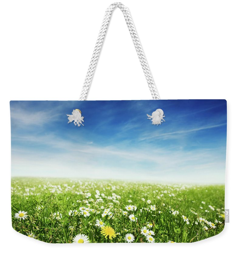 Scenics Weekender Tote Bag featuring the photograph Summer Meadow by Sykkel