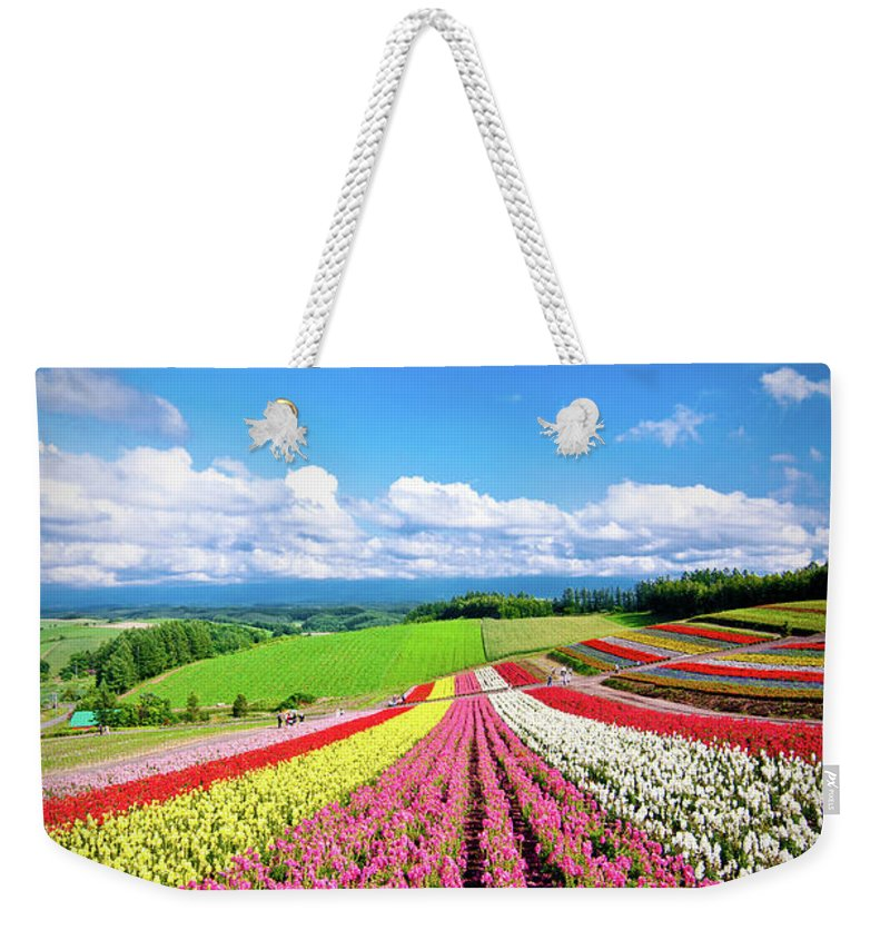Tranquility Weekender Tote Bag featuring the photograph Summer Of Furano by Grace's Photo