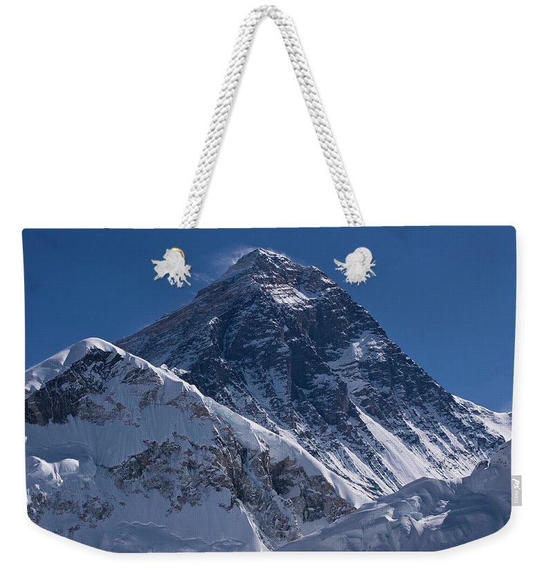 Scenics Weekender Tote Bag featuring the photograph Summit Of Mt Everest8850m Great Details by Diamirstudio