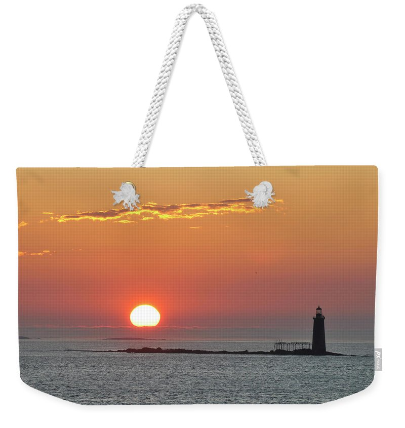 Scenics Weekender Tote Bag featuring the photograph Sunrise by Aimintang