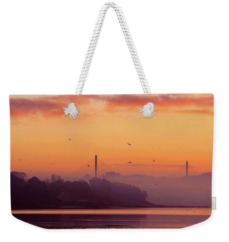 Scenics Weekender Tote Bag featuring the photograph Sunrise by All Images Taken By Keven Law Of London, England.