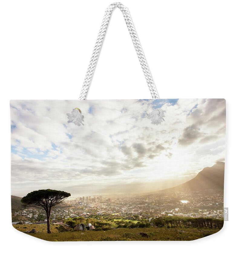 Scenics Weekender Tote Bag featuring the photograph Sunrise Over Cape Town South Africa by Epicurean