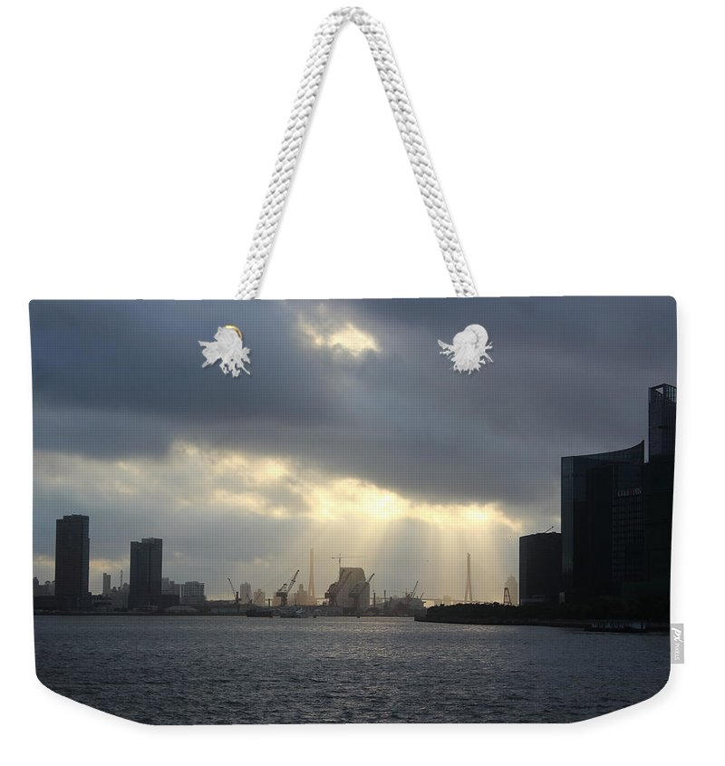 Tranquility Weekender Tote Bag featuring the photograph Sunrises On The Bund Img_2525 by Xiaozhu Yuan