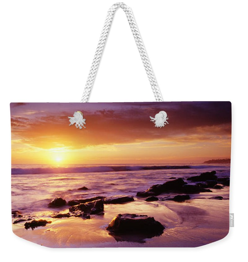 Scenics Weekender Tote Bag featuring the photograph Sunset At Laguna Beach by Jason v