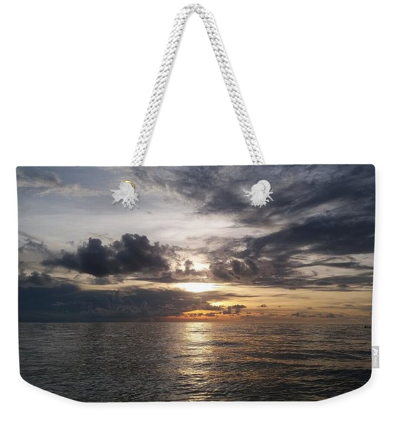Golden Sunset Weekender Tote Bags