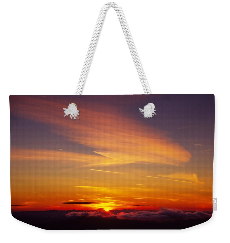 The End Weekender Tote Bag featuring the photograph Sunset Near Taos, New Mexico, Usa by Diane Miller